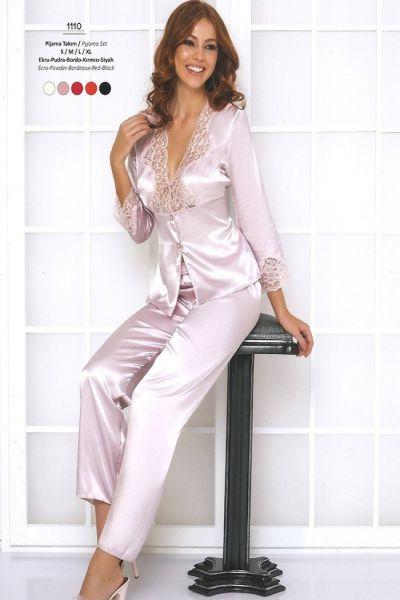 Pierre Cardin Saten Bayan Pijama Takım