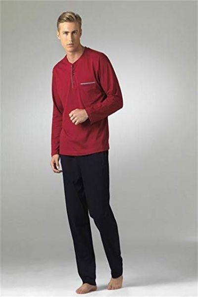 Pierre Cardin 5454 Pamuklu Penye Uzun Kol Erkek Pijama Takım