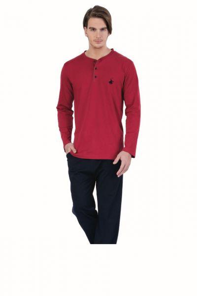 Polo Club Uzun Kol Erkek Pijama Takımı